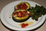 Avocado with Tomato Relish