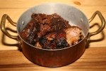 braised beef rib with fermented bean paste - slow smoked pork shoulder - brown sugar and soy