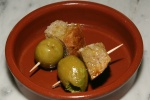 Olives stuffed with anchovies [shades of Spain - pintxos' (spanish amuse-bouche)]