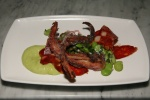 Crispy Octopus House Cured Chorizo, Zucchini, Green Mayonnaise 14,00