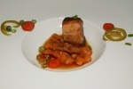 pork belly – navy bean I kimchi I scallion