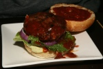 Hogtown Beef Burger $9 Ontario raised beef blended with our spice blend served on a sesame seed bun with classic garnish Avocado Dressing $1 b.b.q. sauce free
