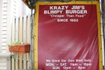 Krazy Jim's Blimpy Burger Decor