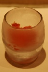 Granita di Arance Rosse (blood orange granita sweet palate cleanser)
