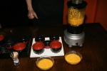 Dipping sauce and condiment preparation demonstration
