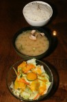 Dinner Special Rice, soup, salad
