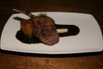 Basil Lamb Chop - baby lamb, eggplant, basil chili sauce