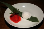 Mochi, Sorbet - red bean, rice cake, strawberry, chocolate mint