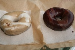 Paulette's Original Donuts and Chicken Rootbeer Float and Blueberry Balsamic