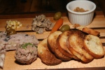 Charcuterie - 12 (pork terrine liver mousse golden raisin mostarda olives carrots corn mushrooms)
