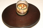 Foie gras yoghourt, coffee jelly and crunchy toffee flakes