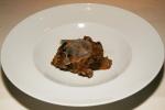 Creamy morel mushroom and head and leg of beef rice