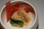 Foie Gras Snow & Strawberry - Ontario Strawberries, Black Truffle Coulis, Walnut Crumble