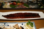 Sashimi Platter for three, Unagi Kabayaki [Freshwater Eel] and Gindara [Black Cod]