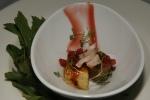 Rabbit strawberry, bread pudding, honey