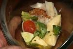 Ricotta Dumpling, Summer Squash, Basil, Tomato, Grana Padano, Poached Egg