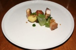 Charred Octopus, Crispy Pork Belly, Tomatillo, New Potato, Spicy Collards, Black Vinaigrette