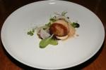 Diver Scallop, Shaved Foie Gras, Celery Puree, Pecan, Concord Grape, Scuppernong Mustard