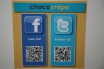 Chococrêpe Twitter Facebook QR codes