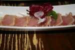 Bintoro lightly seared Albacore tuna sashimi, ponzu sauce