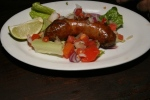 CHORIZO Grilled spicy chorizo served with tomato salsa $5.00