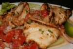 GRILLED CALAMARI Tender squid marinated in olive oil, garlic and spicy paprika $9.00