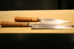Chef Jay's very, very sharp Japanese knives