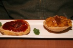 Pork Crackling Biscuits ~ seasonal fruit preserve