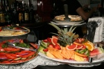 Tomato Slices, Cucumber and Onion, Cheese Plate, Fruit slices