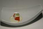 Amuse Bouche - Tomato Gelée Cucumber Gazpacho, Cucumber Caviar