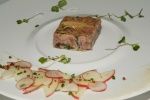 St. Jacob's Ham, Foie Gras and Parsley Terrine - Kohlrabi, Apple and Crisp Barley