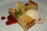 Candied Garden Tomato, Almond Cream Tart - Plums, Vanilla Ice Cream