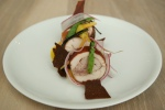 349. Chicken (Harrison Co-op, ON) - egg, carrot, mole (WD-50, 2006) $26