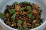 37. Brussels Sprouts - fish sauce, puffed rice, mint $12