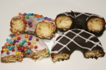 Chocolate Peppermint, Vanilla & Chocolate Dots from Paulette's 913 Queen Street East Toronto $2.75 each