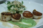 Wild Digby Sea Scallops Avocado Purée, Thai Curry Paste, Mango, Papaya & Peanut Salad 28
