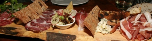 Antipasto Misto shared sampling of cured meats, cheeses, small tastes, accompaniments Piatto Piccolo $28