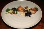 Scallops, black pudding, apple, hen of the woods $15