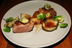 Lamb, Potato cake, Brussels sprouts, Cumberland sauce in Onion bowls $24