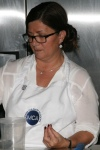 Chef Judy preparing of Coconut Caviar