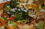 Seafood Stir-Fry on Texmati Rice – Coconut Caviar