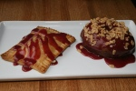 POP TART foie gras & cherry 5; DOUGHNUT cherry & cinnamon 4
