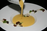 butternut squash velouté coconut, lime, coffee cookie, hon shimeji mushrooms, celery