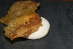 Chicken Crackling, Truffle Salt, a la Crème Espuma
