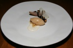 Pears, Whipped Mascapone & Black Truffle, Pecan, Red Wine
