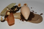 Apple, Chestnut & Black Truffle Purée, Hazel & Chocolate
