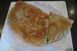 (10) Pan Fried Calzone w/Garlic Chives, Shrimp & Egg Product ID : 010 韭菜合子 Price: $4.95