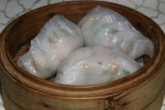 22 Snow Pea Leaves & King Mushroom Dumpling L $4.30