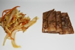 Pork Hock Two Ways crispy sweet & sour terrine and pressed terrine, jellyfish slaw
