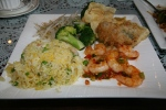 Fish Platter 'B' Shrimp, Oyster, Broccoli, Sprouts and Seafood with Egg and Rice $14.95
